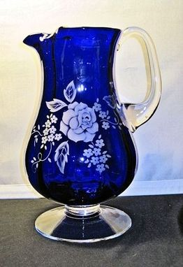 Custom Made Cobalt Blue Pitcher