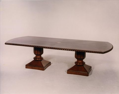 Custom Made #409 Double Pedistal Dining Table