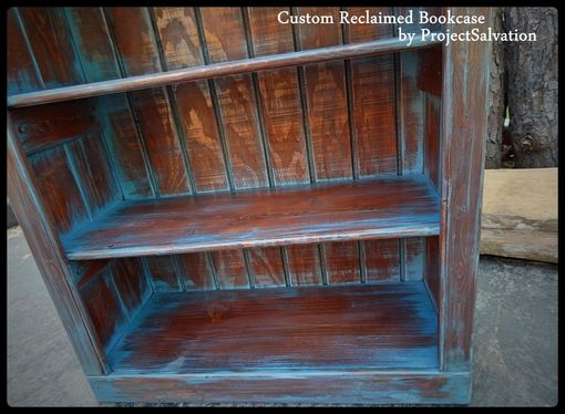 Custom Made Custom Reclaimed Wood Bookcase
