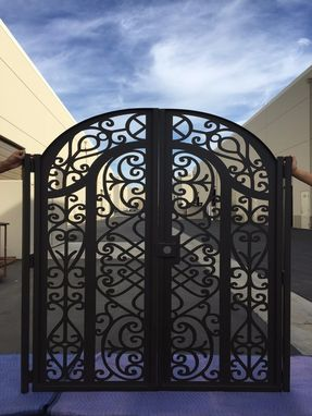 Custom Made Custom Italian Metal Dual Entry Gate Entry Walk Thru Pedestrian Garden Steel