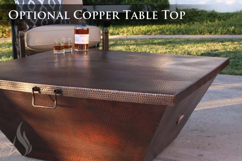 A Custom Made 40 Inch Plaza Moreno Hand Hammered Copper Fire Pit To Order From Starfire Direct Custommade