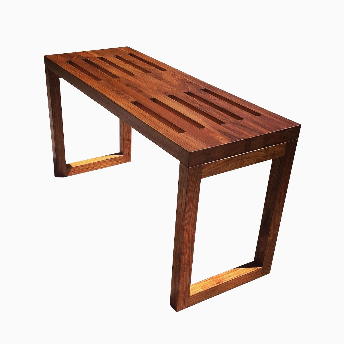 Buy a Hand Made Modern Teak Bench, made to order from ...