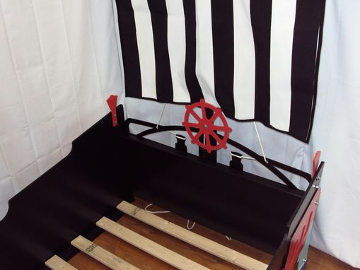 Custom Made Pirate Ship Twin Kids Bed Frame - Handcrafted - Nautical Themed Children's Bedroom Furniture