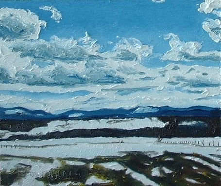 "Custom Made Original Oil Painting Landscape Canada Appalachian Quebec "" The Melting Snow In The Appalachians """