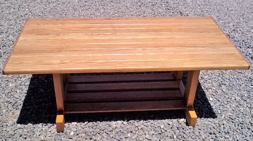 Custom Made Mission Style Solid Oak Coffee Table