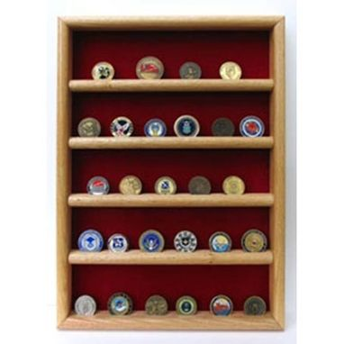 Custom Made Wall Coin Display, Challenge Coin Wall Display