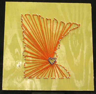 Custom Made String Art Minnesota State Love