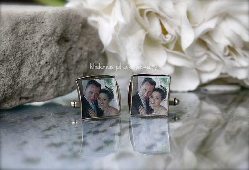 Custom Made Custom Photo Cufflinks, Photo Cufflinks, Mens Cufflinks, Anniversary Gift For Men