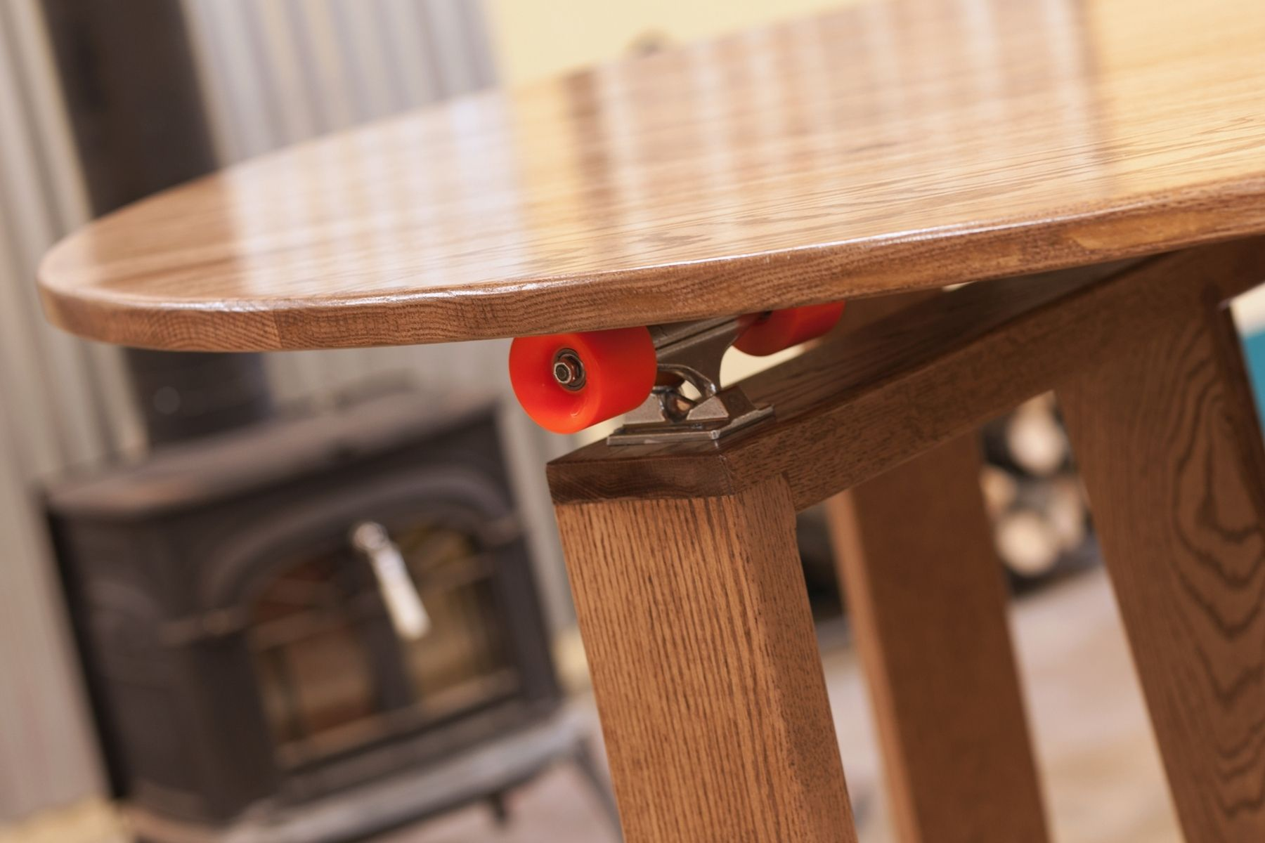 Custom 5 Round Cupping Table Skateboard Lazy Susan