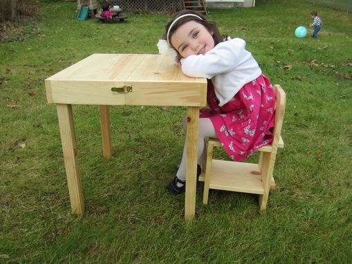 Custom Made Kids Portable Table And Chair.