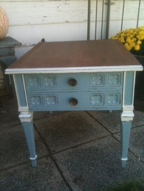 Custom Made Painted End Table