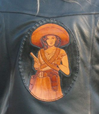 Custom Made Custom Tooled Leather Patches