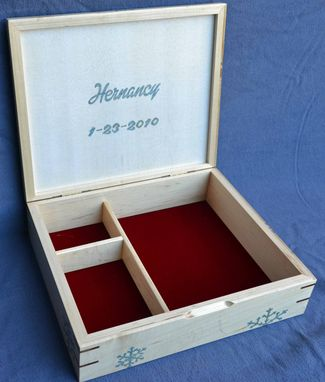 Custom Made Fifth Anniversary Jewelry Box