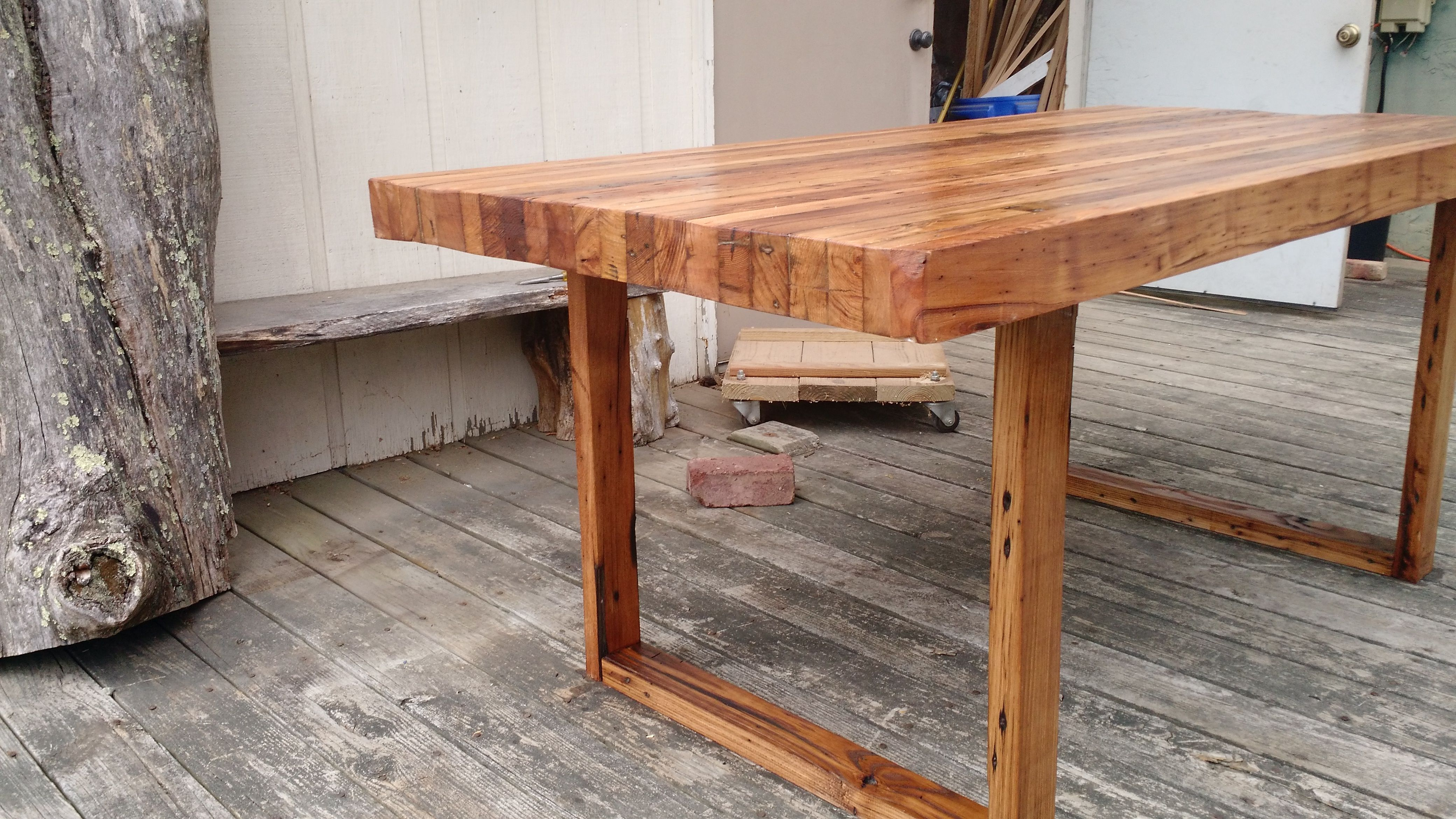 Custom Reclaimed Chestnut Table Barnwood Dining Table by WMWW