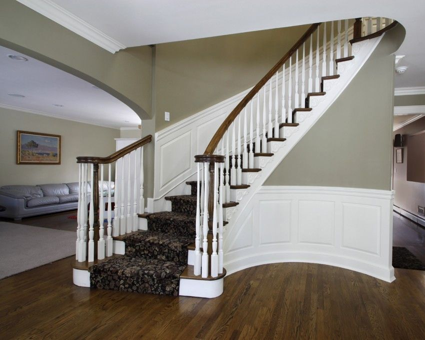 Hand Crafted Custom Curved Raised Panel Wainscoting By