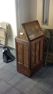 Custom Made Mission Style Flat Panel Trash Cans