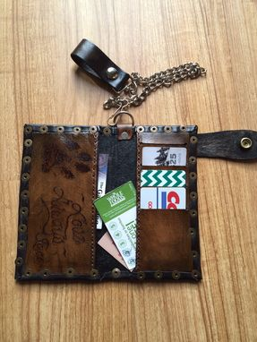 Custom Made Custom Branded Biker Wallet