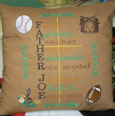 Custom Made Custom Pillow To Go With Father Joe's Quilt