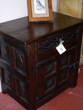 Custom Made Carved Nightstand