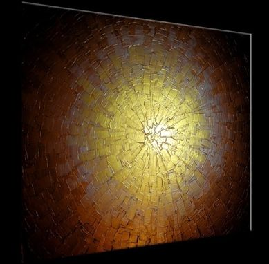Custom Made Palette Knife Painting, Abstract Gold Original Metallic Textured Painting By Lafferty - 24 X 30