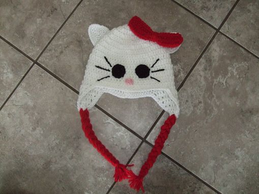 Custom Made Hello Kitty Inspired Earflap Hat