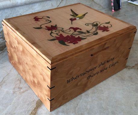 Custom Made Hummingbird Jewelry Or Keepsake Box