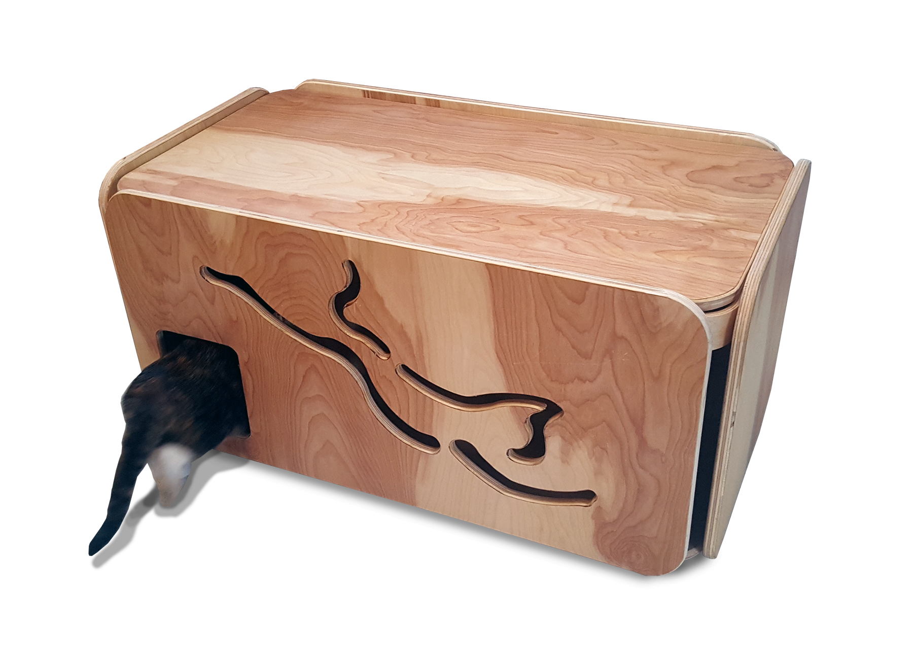 Custom Made Litter Box Cabinet Enclosure Cover Dog Proof