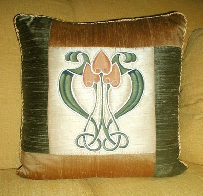 Custom Made Art Nouveau Pillow