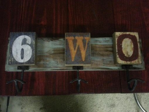 Custom Made Handmade Hanging Wall Plaque Or Jewelry Hanger With Letters And Number Custom Order