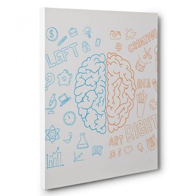 Custom Made Left And Right Brain Canvas Wall Art