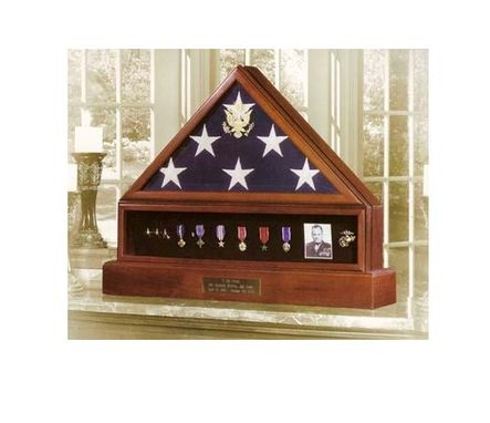 Custom Made Presidential Pedestal Urn Flag And Medal Display