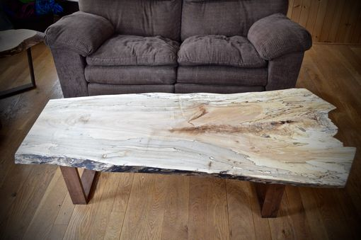 Custom Made Live Edge Spalted Maple Coffee Table