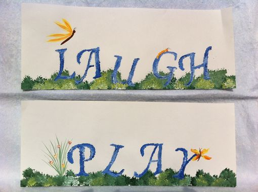 Custom Made Words Painted In Grass