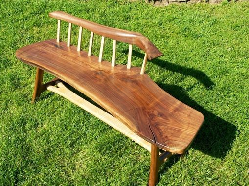 Custom Made Walnut Whale Bench