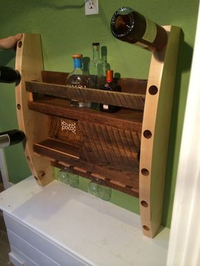 "Custom Made ""The Bar Back"" Wine And Cocktail Storage And Display"