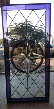 Custom Made Beveled Compass Rose Stained Glass Windows