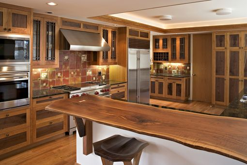 Custom Made Walnut And Cherry Kitchen