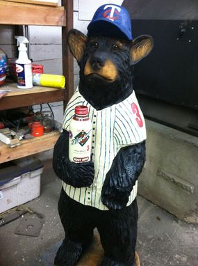 Custom Made Custom Twins Baseball Bear