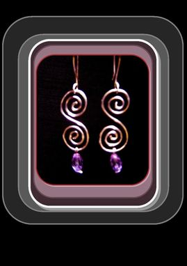 Custom Made Silver Dangle Earrings