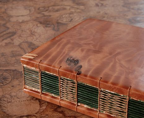 Custom Made Reclaimed Redwood Wedding Guest Book / Journal Wood Book