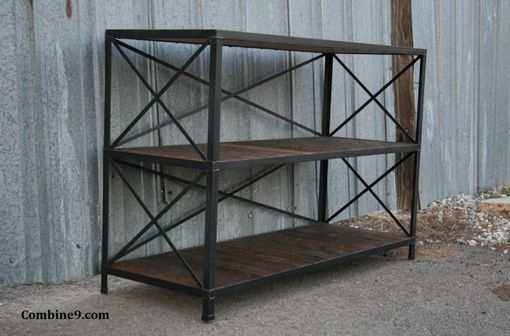 Custom Made Reclaimed Wood Shelving Unit, Rustic Bookcase - Industrial Style Shelf. Custom Sizes.