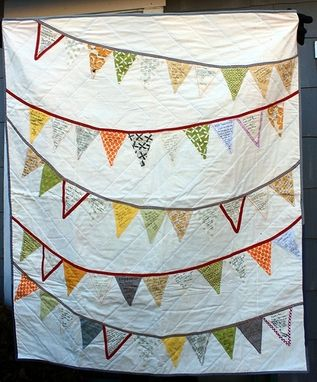 Custom Made Bunting Flags Wedding Quilt Signature Guest Book