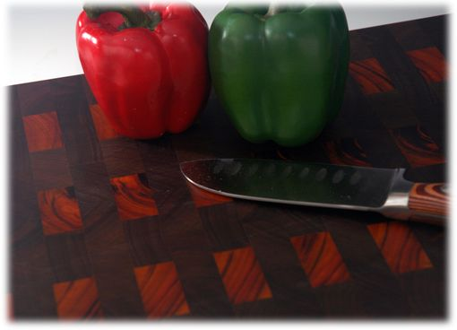 Custom Made End Grain Walnut Or Goncolo Alves And Walnut Cutting Board