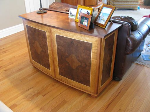 Custom Made Walnut Veneered Sofa Table