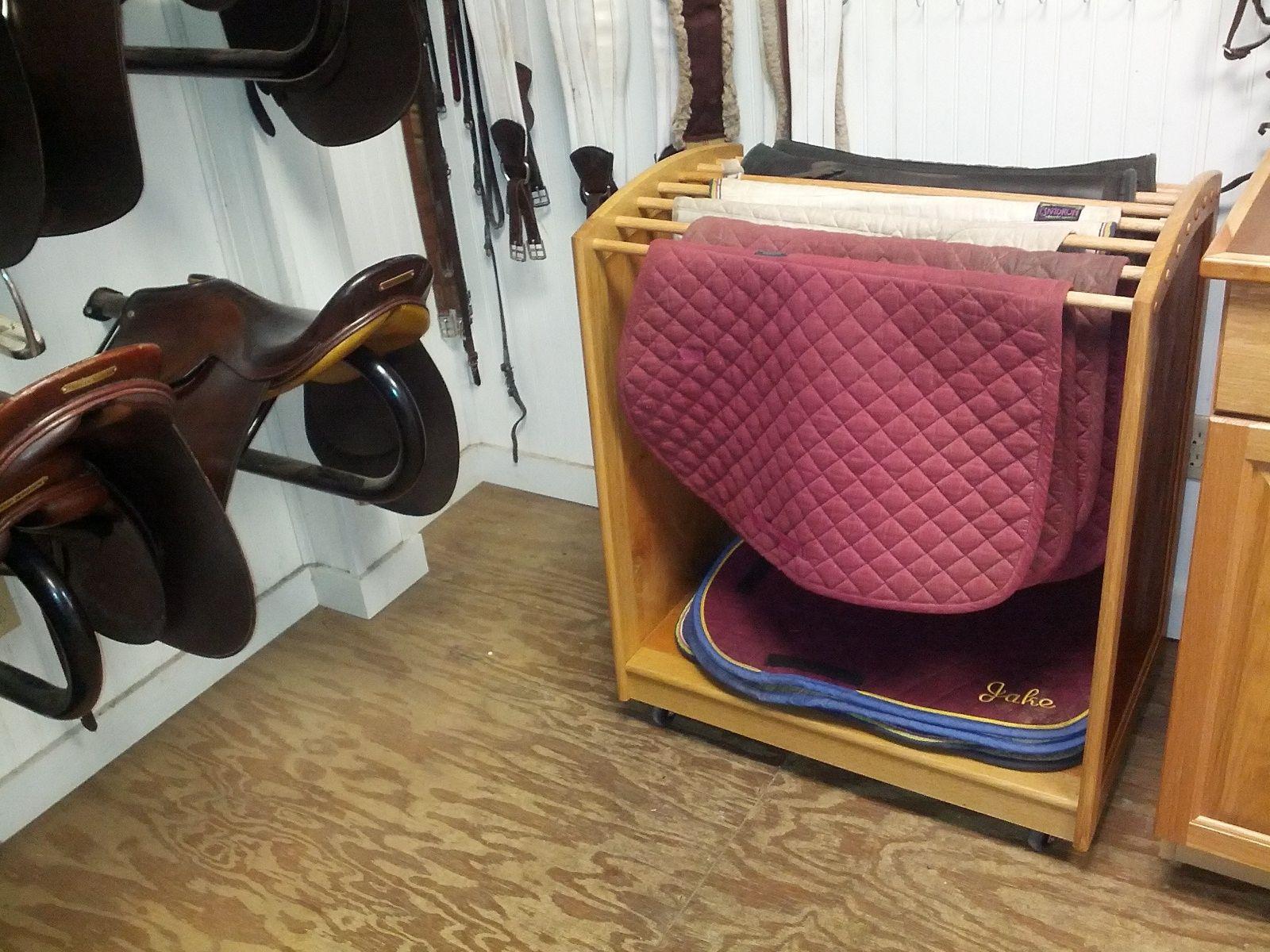handmade horse saddle pad rack by lyons