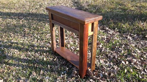 Custom Made Authentic Montana Made Barnwood Sofa Table/Entryway Table