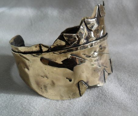 Custom Made Custom Metal Leaf-Inspired Cuff