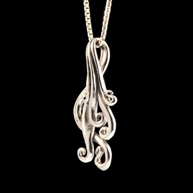 Custom Made Silver Cascade Waterfall Charm Necklace