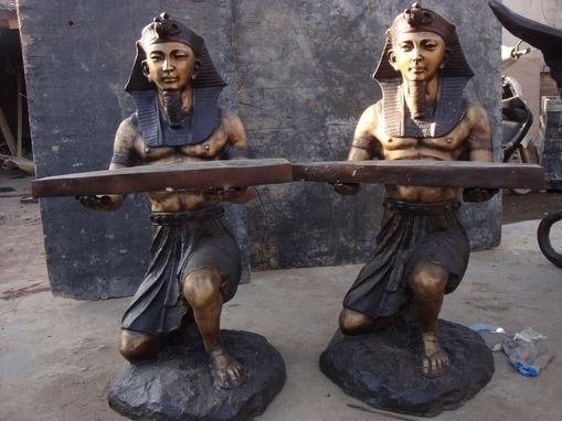 Custom Made Wax-Cast Bronze Egyptian Servants