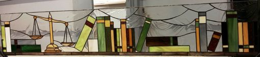 Custom Made Set Of Stained Glass Windows - Law Office (W-120)